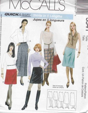 patron couture bas jupe mc call M3041