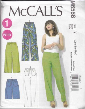 patron couture bas pantalon  mc call M6568