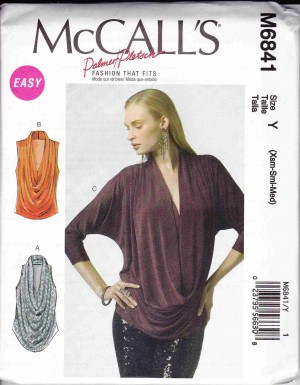 patron couture haut top mc call M6841