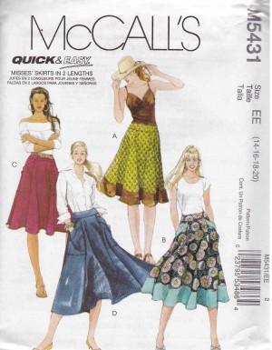 patron couture jupe mc call M5431