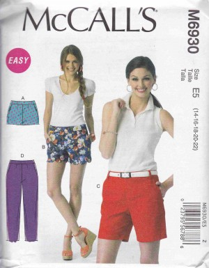 patron couture pantalon jupe mc call M6930