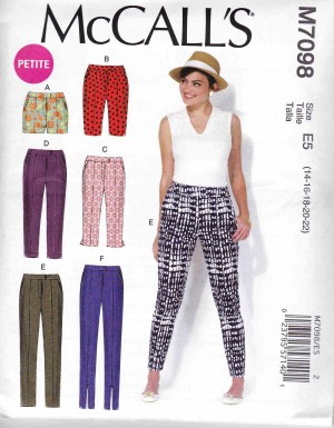patron couture pantalon mc call M7098