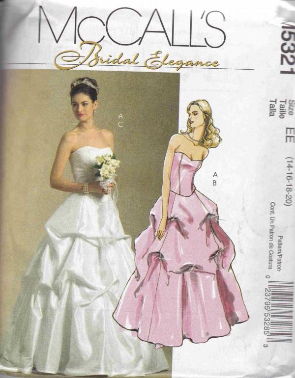 patron couture robe de marie mc call M5321
