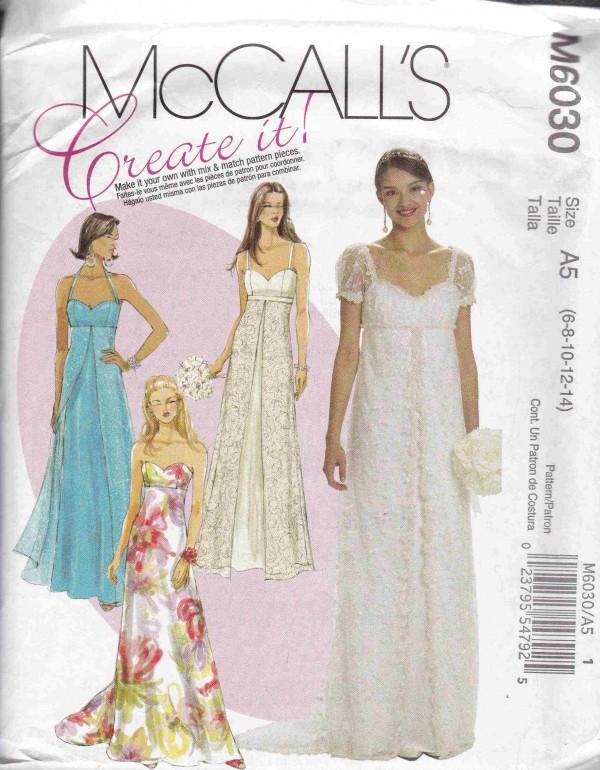 patron couture robe mc call M6030
