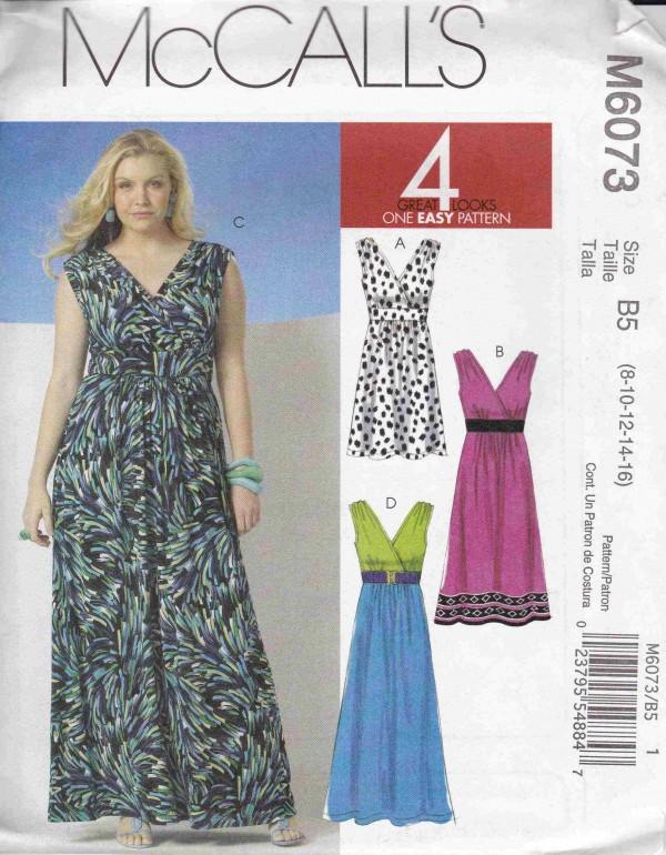 patron couture robe mc call M6073