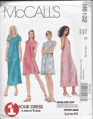 patron couture robe mc call M6102