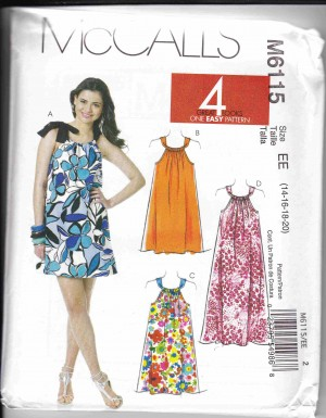 patron couture robe mc call M6115