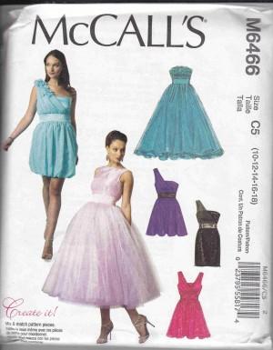 patron couture robe mc call M6466