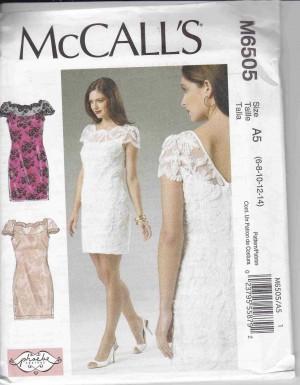 patron couture robe mc call M6505