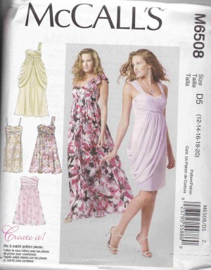 patron couture robe mc call M6508