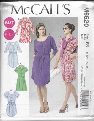 patron couture robe mc call M6520
