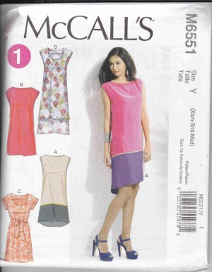 patron couture robe mc call M6551