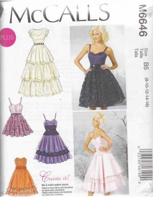 patron couture robe mc call M6646