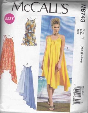 patron couture robe mc call M6743