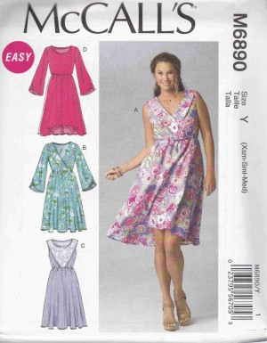 patron couture robe mc call M6890