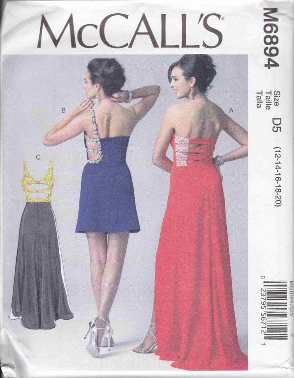 patron couture robe mc call M6894