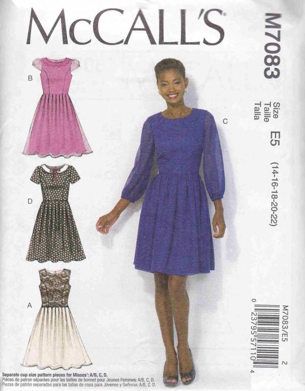 patron couture robe mc call M7083