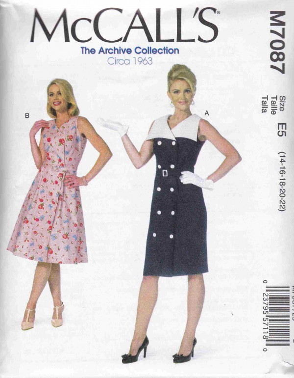 patron couture robe mc call M7087