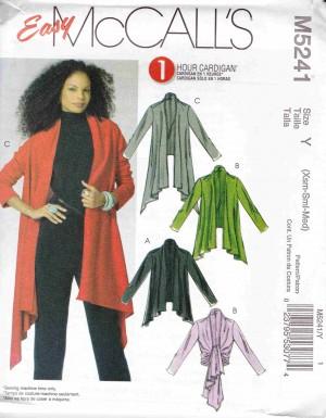 patron couture veste manteaux mc call M5241