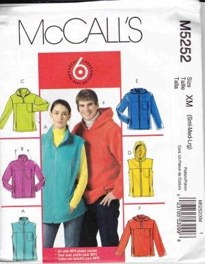 patron couture veste manteaux mc call M5252