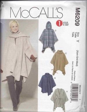 patron couture veste manteaux mc call M6209