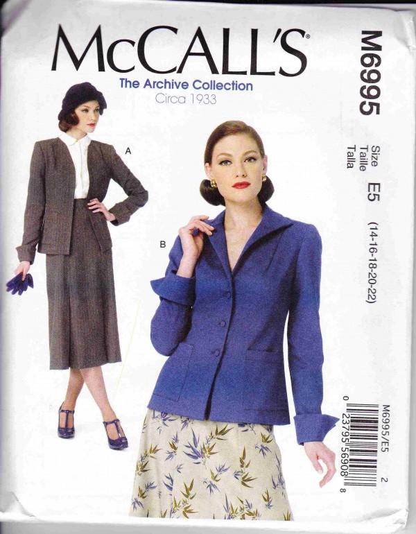 patron couture veste manteaux  mc call M6995