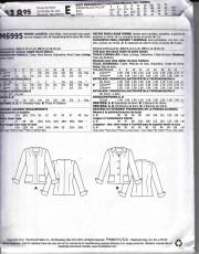 patron couture veste manteaux  mccall M6995
