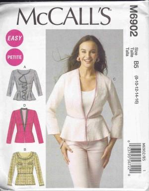 patron couture veste mc call M6902