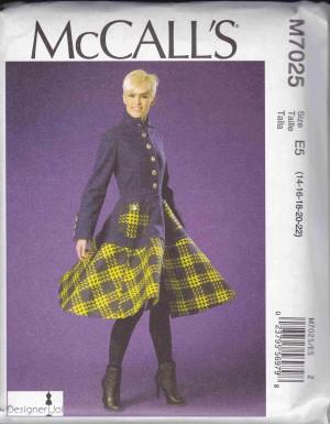 patron couture veste mc call M7025