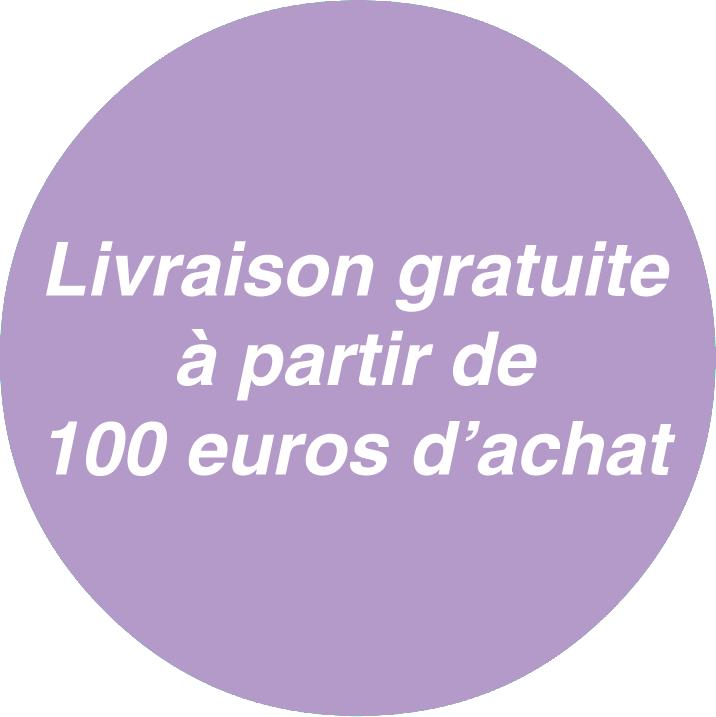 Frais de port offerts à partir de 100 euros d'achat
