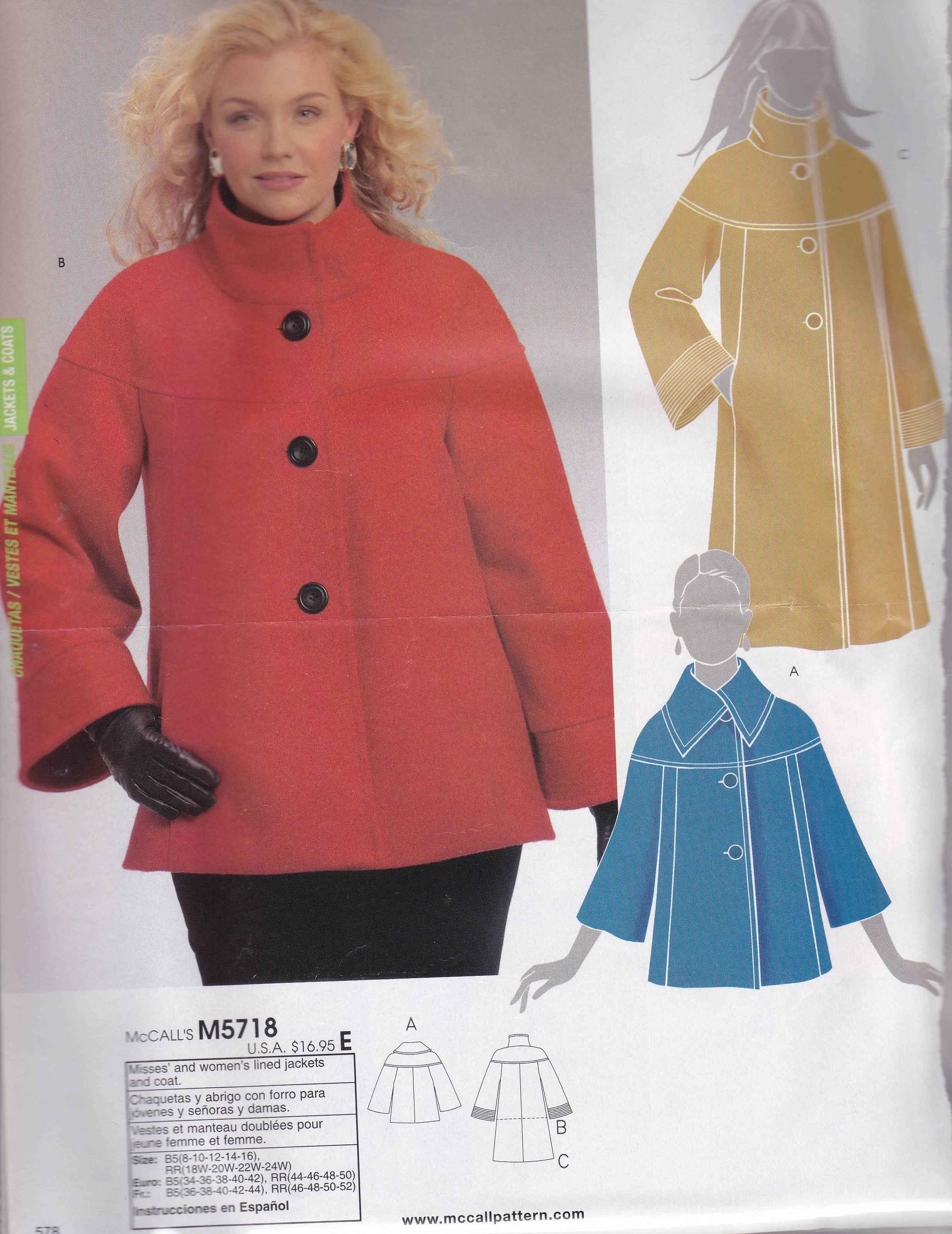 Patron veste femme hiver